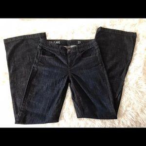 Jcrew women's indigo high heel flare jeans